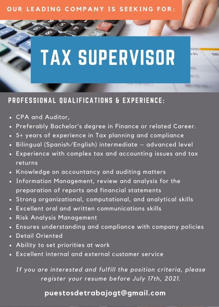 tax supervisor